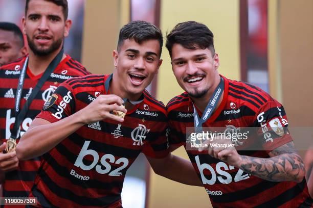 Reinier Jesus and Matheus Soares of Flamengo celebrates the victory after winning the final match of Copa CONMEBOL Libertadores 2019 between Flamengo...
