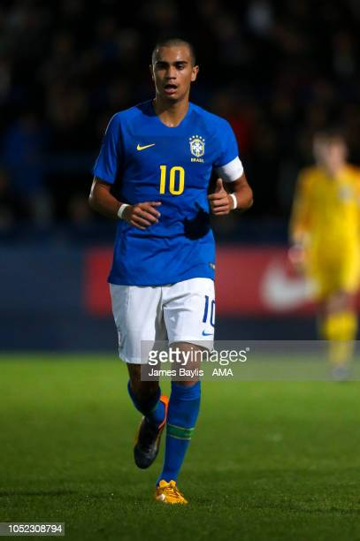 Reinier Jesus Carvalho of Brazil during the U17 International Youth Tournament game between England and Brazil at the New Bucks Head Stadium on...