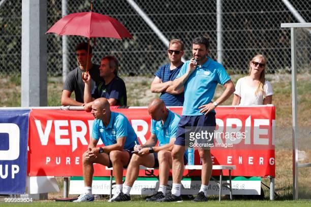Reinier Robbemond of PSV Jurgen Dirkx of PSV Mark van Bommel of PSV during the Club Friendly match between PSV v Neuchatel Xamax FCS on July 14 2018...
