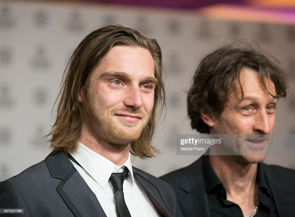 Reinout Scholten van Aschat (L) and Boudewijn Koole attend the opening of the Rotterdam International Film Festival on January 27, 2016 in Rotterdam, Netherlands.