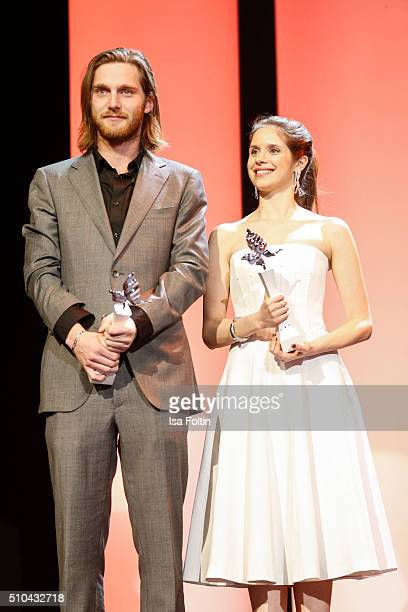 Reinout Scholten van Aschat and Daphne Patakia during the presentation of the European Shooting Stars 2016 as part of the 66th Berlinale...