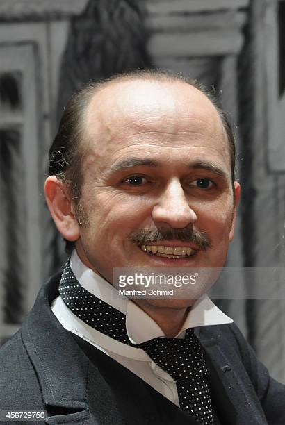 Reinwald Kranner poses for a photograph during the Mary Poppins musical premiere at Ronacher Theater on October 1 2014 in Vienna Austria