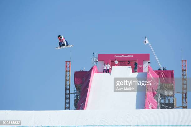 Reira Iwabuchi Japan during the womens snowboard big air final at the Pyeongchang 2018 Winter Olympics on 22nd February 2018 at the Alpensia Ski...