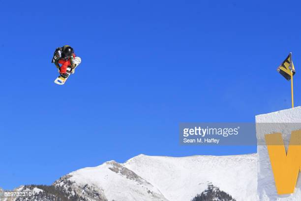 Reira Iwabuchi of Japan competes in the final of the FIS Snowboard World Cup 2018 Ladies' Big Air during the Toyota US Grand Prix on December 10 2017...