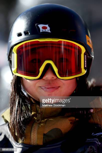 Reira Iwabuchi of Japan competes in the FIS World Cup 2018 Ladies Snowboard Big Air final during the Toyota US Grand Prix on December 10 2017 in...