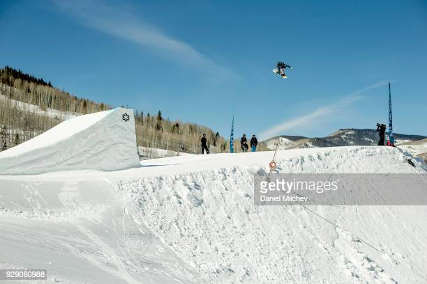 Reira Iwabuchi of Japan during Girl's slopestyle qualifications of the 2018 Burton US Open on March 7 2018 in Vail Colorado