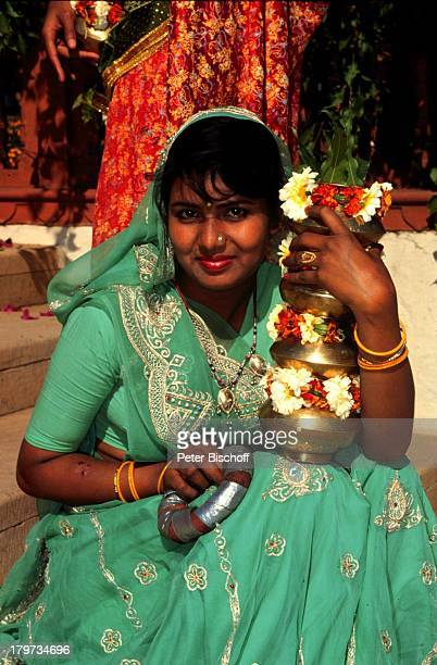 "Reise , Indien, Asien , Jaipur , Hochzeit ""Rambagh Palace"" , jung , Frau ,"