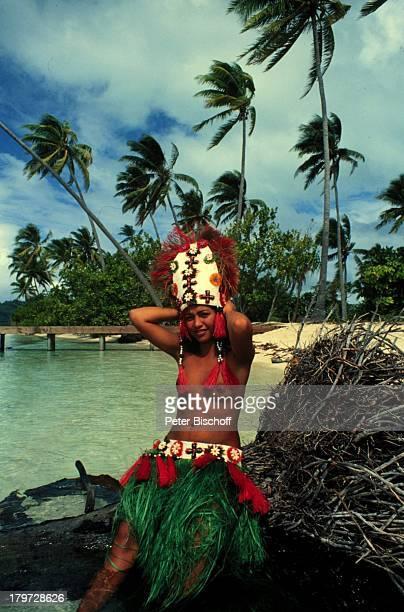 Reise Insel Bora Bora FranzösischPolynesien Mädchen Strand sexy Südsee