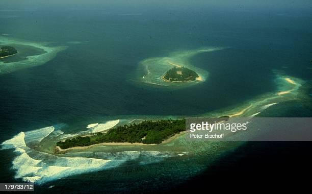 Reise, Malediven, Indischer Ozean, Asien, Luftaufnahme,