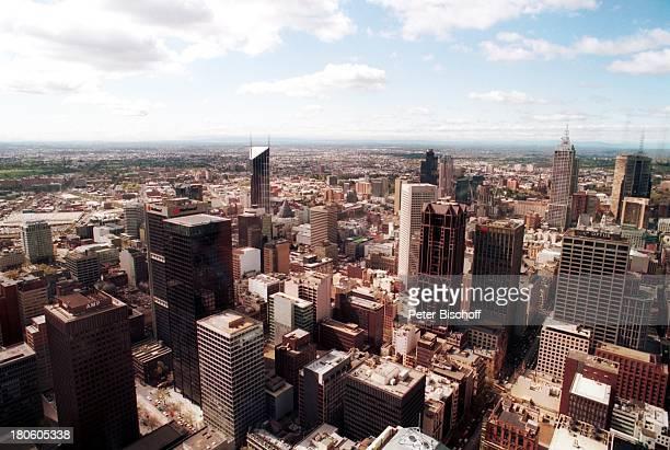 Reise Melbourne Australien City Wolkenkratzer Hochhaus Aussicht Skyline /TI