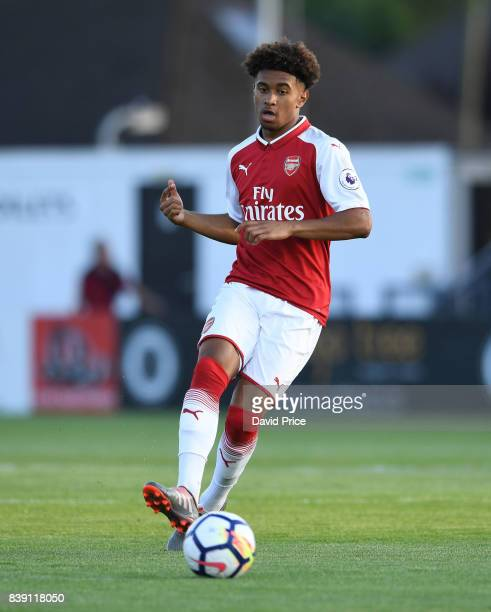 Reiss Nelson of Arsenal during the match between Arsenal and Liverpool at Meadow Park on August 25 2017 in Borehamwood England