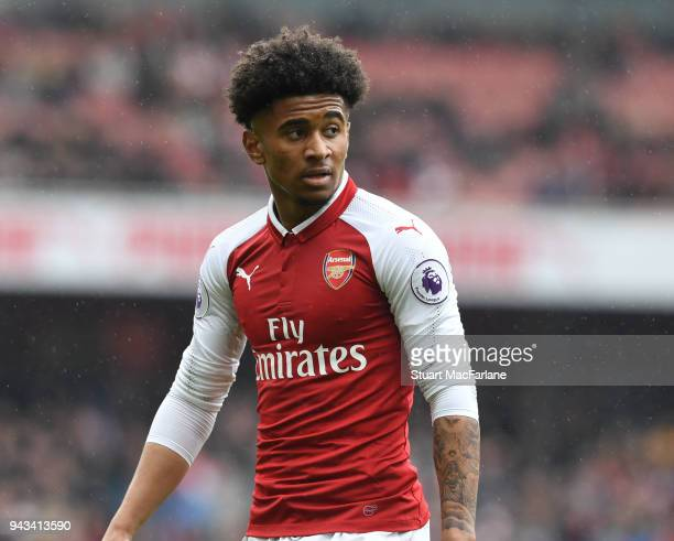 Reiss Nelson of Arsenal during the Premier League match between Arsenal and Southampton at Emirates Stadium on April 7 2018 in London England