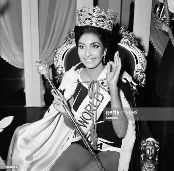 Reita Faria, Miss India, is crowned Miss World 1966, 17th November 1966.