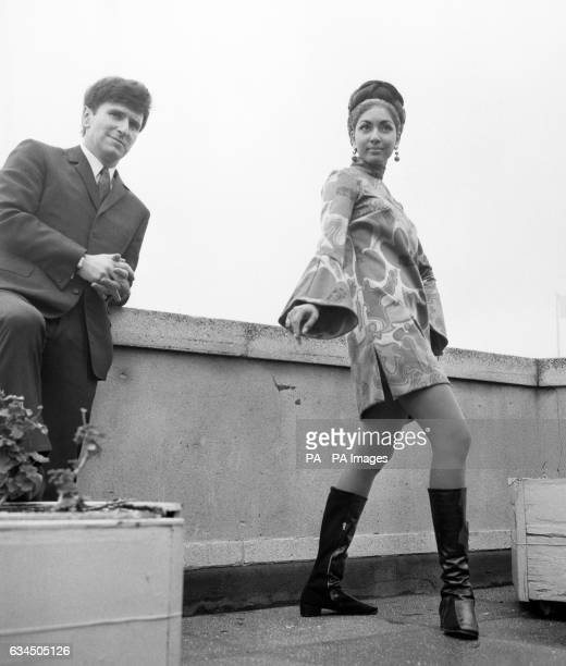 Reita Faria, the reigning Miss World, wearing one her own creations as she is pictured with Carnaby Street's Irvine Sellar at a press conference in...