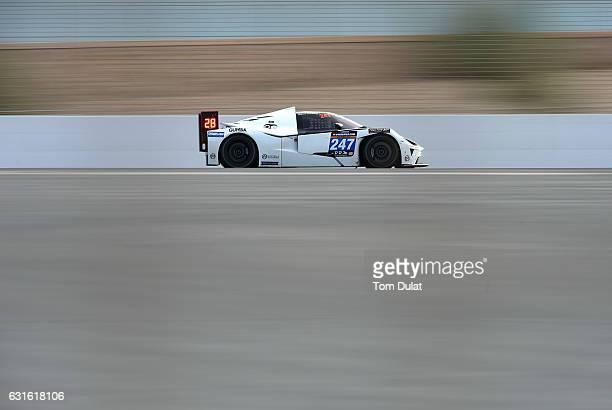 Reiter Engineering KTM XBOW of Anthony Mantella Dore Chaponick Jr Brett Sandberg and Benjamin Mazatis race during the Hankook 24 Hours Dubai Race in...
