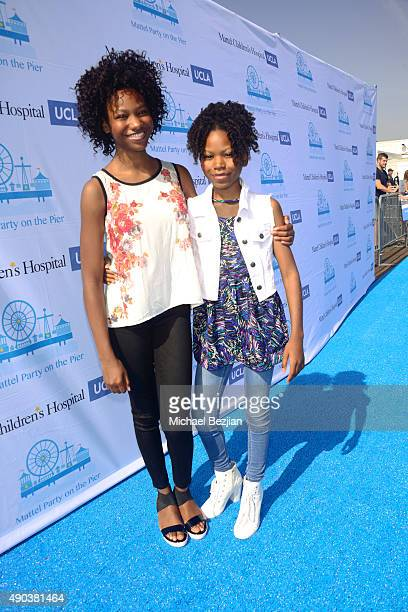 Reiya and Riele Downs arrive at Mattel Children's Hospital UCLA 16th Annual Party On The Pier Fundraiser at Santa Monica Pier on September 27 2015 in...