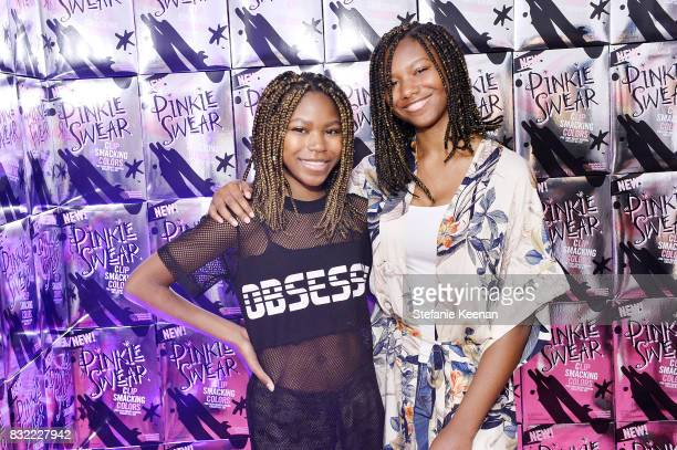Reiya Downs and Riele Downs at Pinkie Swear Makeup Collective Celebrates Launch With Special Exhibition Drawn In Beauty Illustration in the Digital...