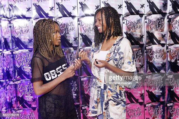 Reiya Downs and Riele Downs at 'Pinkie Swear' Makeup Collective Celebrates Launch With Special Exhibition 'Drawn In Beauty Illustration in the...