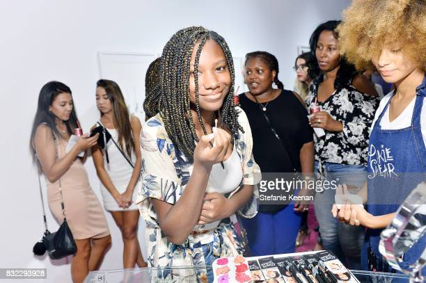 Reiya Downs at 'Pinkie Swear' Makeup Collective Celebrates Launch With Special Exhibition 'Drawn In Beauty Illustration in the Digital World' Curated...