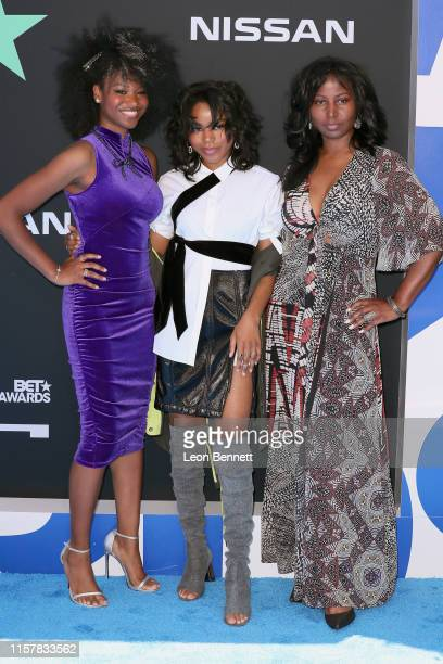 Reiya Downs, Elle Downs and Riele Downs attend the 2019 BET Awards on June 23, 2019 in Los Angeles, California.