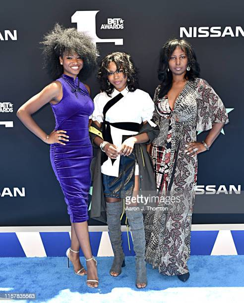 Reiya Downs Riele Downs and Elle Downs attend the 2019 BET Awards at Microsoft Theater on June 23 2019 in Los Angeles California