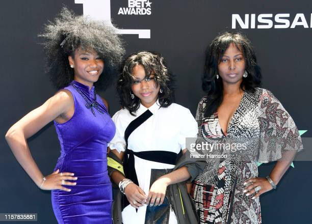 Reiya Downs, Riele Downs, and Elle Downs attend the 2019 BET Awards on June 23, 2019 in Los Angeles, California.