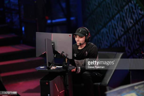 Reizey of Magic Gaming looks on against 76ers Gaming Camp during Week 7 of the NBA 2K League regular season on May 30 2019 at the NBA 2K Studio in...