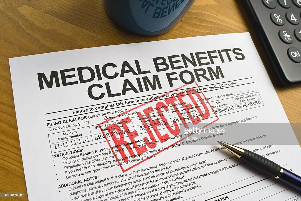Rejected Benefits Claim Form : Stock Photo