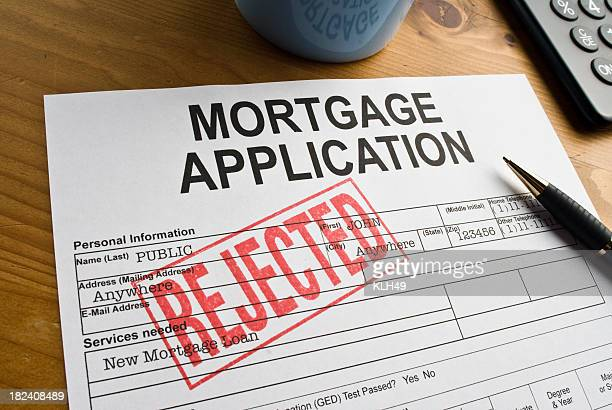 rejected mortgage application - dismissal stock photos and pictures