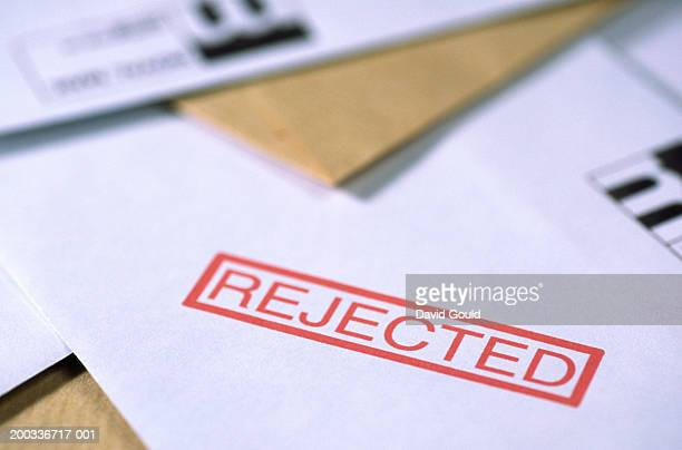'rejected' paperwork - dismissal stock photos and pictures