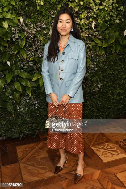 Rejina Pyo attends the BFC/Vogue Designer Fashion Fund announcement lunch on May 01 2019 in London United Kingdom