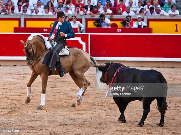 Rejoneador bullfighter during the festival of San Fermin in Pamplona