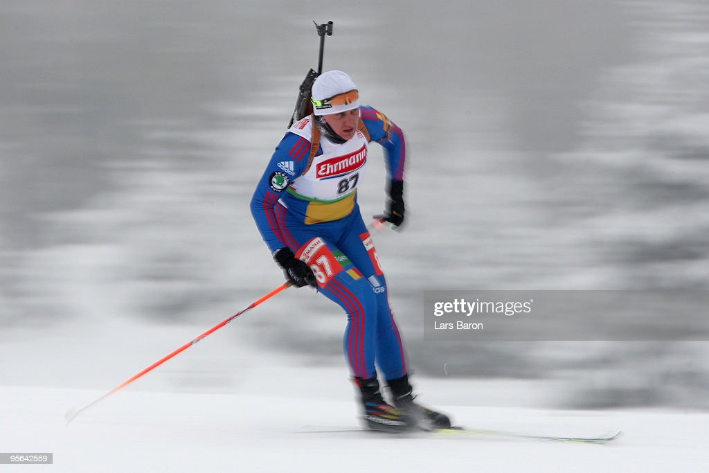 Reka Ferencz of Romania competes during the Women's 7,5km Sprint in the e.on Ruhrgas IBU Biathlon World Cup on January 8, 2010 in Oberhof, Germany.