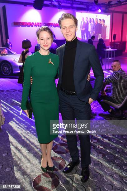 Reka Tenki and guest attend the Medienboard Berlin-Brandenburg Reception during the 67th Berlinale International Film Festival Berlin at on February...