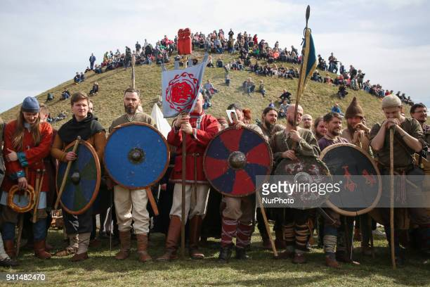 Rekawka annual traditional festival held on the Krakus Mound in Krakow Poland on 3 April 2018 During this Cracovian Easter tradition festival many...