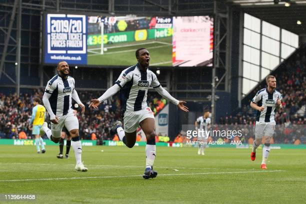 Rekeem Harper of West Bromwich Albion celebrates after scoring a goal to make it 2-1 during the Sky Bet Championship fixture between West Bromwich...