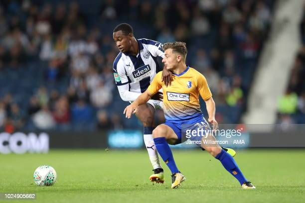 Rekeem Harper of West Bromwich Albion Otis Khan of Mansfield Town during the Carabao Cup Second Round match between West Bromwich Albion and...