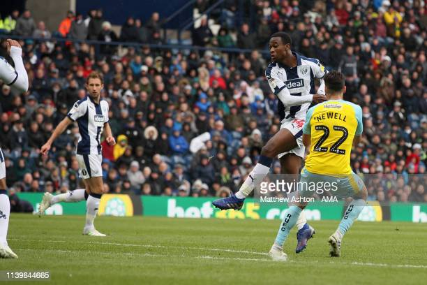 Rekeem Harper of West Bromwich Albion scores a goal to make it 21 during the Sky Bet Championship fixture between West Bromwich Albion v Rotherham...