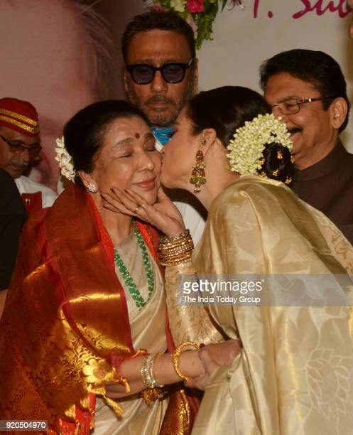 Rekha and Asha Bhosle at the Yash Chopra Memorial Award 2018 in Mumbai