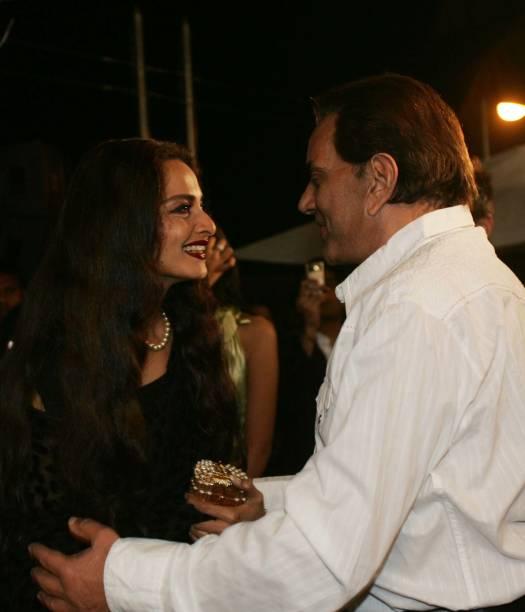 Rekha and Dharmendra at HT Cafe Awards