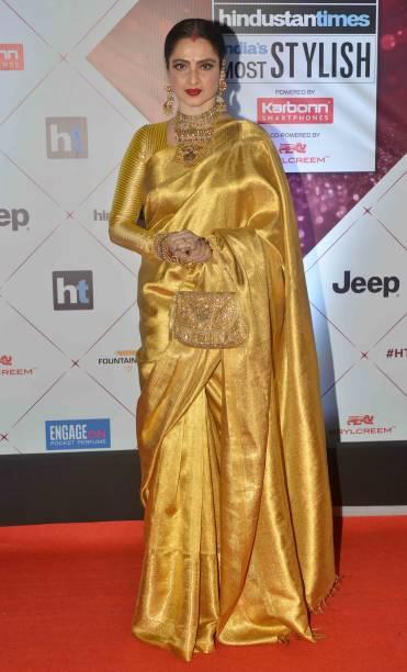 Rekha arrives at the HT Indias Most Stylish Awards 2018 in Mumbai
