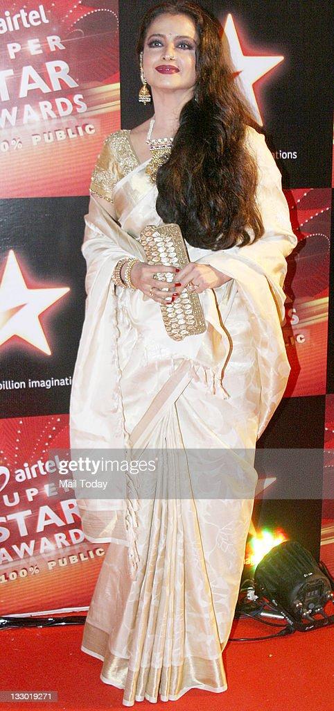 Rekha at Airtel Star Super Star Awards at Yashraj Studio on Tuesday 15th November 2011