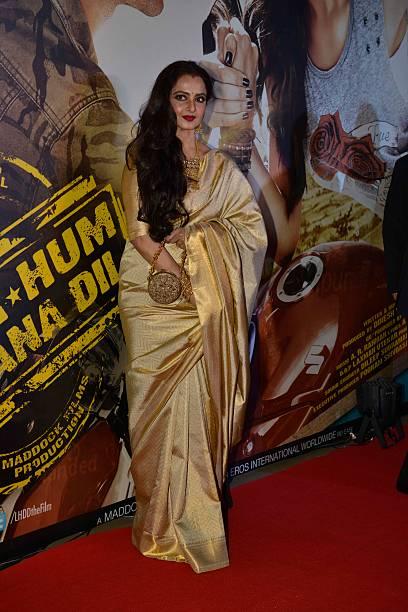Rekha at the Premier of Lekar Hum Deewana Dil in Mumbai