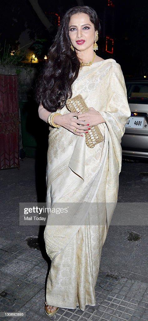 Rekha at the special screening of film ``Tell Me O Khuda`` at ketnav in Mumbai on 25 October 2011