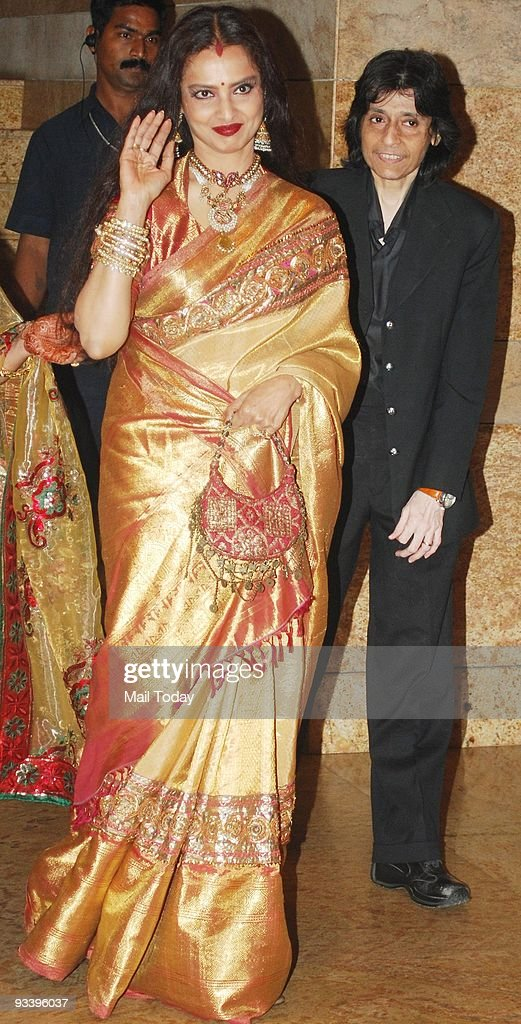 Rekha At The Wedding Reception Of Bollywood Actress Shilpa Shetty In