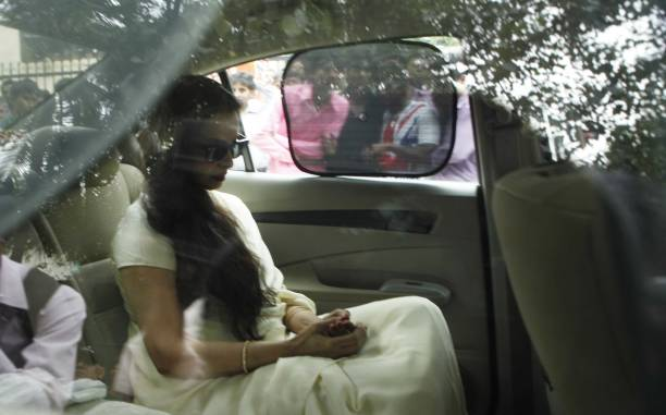 Rekha at Veteran Director Yash Chopra expired on the 21st of October due multiple organ failure the funeral being conducted at Yash Raj Studios...