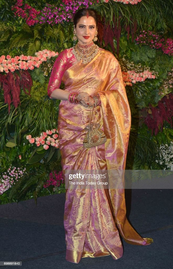 Rekha at Virat Kohli and Anushka Sharmas reception in Mumbai