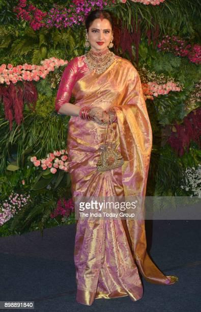 Rekha at Virat Kohli and Anushka Sharmas reception in Mumbai