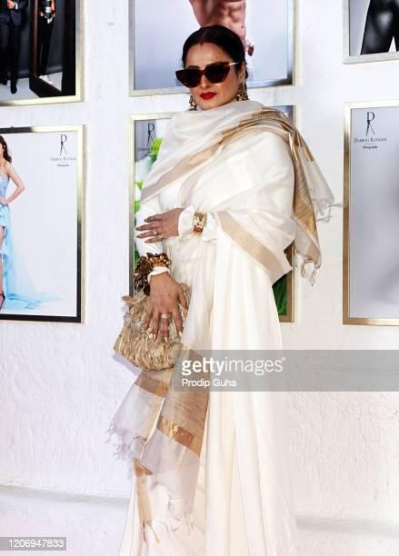 Rekha attends the 21st limitededition 2020 Dabboo Ratnani's Calendar on February 17 2020 in Mumbai India