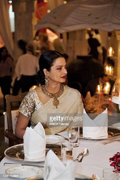 rekha, bollywood actress, at holi festival. udaipur, india. - rekha stock pictures, royalty-free photos & images